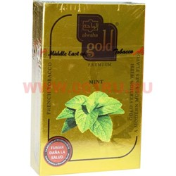 "Табак для кальяна Al-Waha Gold 50 гр ""Mint"" (мята аль-ваха голд Иордания) - фото 46534"