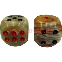 Кости игральные из оникса 1,5 дюйма 4 размер 6 шт/уп - фото 46564