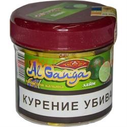 """Табак для кальяна оптом Al Ganga 50 гр """"Лайм"""" (с акцизной маркой) - фото 46607"""