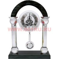 Часы стеклянные с маятником - фото 46642