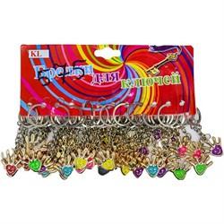 Брелок для ключей (KL-527-730) ладошка смайлик, цена за 120 шт (2400 шт/кор) - фото 46874