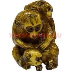 3 обезьяны (под кость) - фото 46889