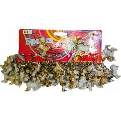Брелок (KL-693) собачки под кость, цена за 120 шт (1680 шт/кор) - фото 46917
