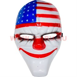 "Маска ""Злой Клоун Dallas USA"" из толстого пластика (из игры Payday 2) - фото 47047"
