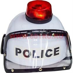 Шлем полицейского с мигалкой - фото 47119