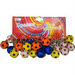 Брелок (KL-80) мяч мягкий 30 мм футбольный, цена за 120 шт (1200 шт/кор) - фото 47158
