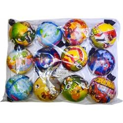 Мячик на веревке 70 мм (Y0Y0-04) цена за 600 шт (рисунки микс) - фото 47185