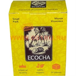 Уголь для кальянов Ecocha 24 кубика 250 гр (кокосовый) - фото 47317