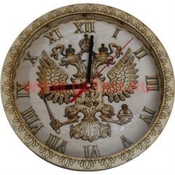 """Часы """"Герб"""" деревянные резные - фото 47499"""