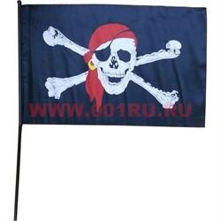 Флаг пиратский 4 размер 40х65 см (12 шт\бл) - фото 47699
