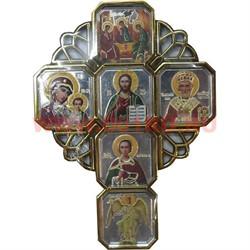 Икона-оберег на липучке с ликами святых - фото 47827