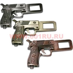 Зажигалка пистолет 3 цвета (с заглушкой для ремня безопасности) - фото 47969