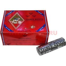 Уголь для кальяна Three Kings (Три Короля) 40 мм 100 штук, 10 упаковок (Голландия) - фото 48178
