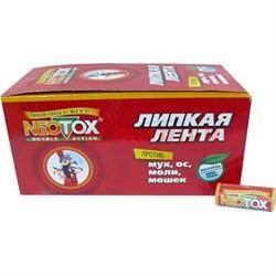 Липкая лента Neotox (от мух, ос, моли, мошек) цена за уп из 100 шт, 10 уп/кор - фото 48201