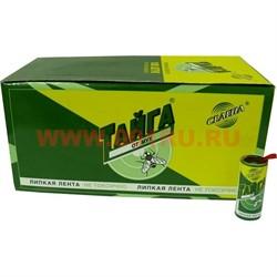 Липкая лента Тайга от мух, цена за 100 шт, 10 уп/кор - фото 48207
