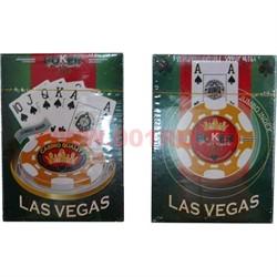 Карты для покера Las Vegas пластик 80%, цена за 2 упаковки - фото 48389