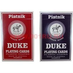 Карты для покера Platnik Duke, цена за 2 упаковки, 80% пластик - фото 48422