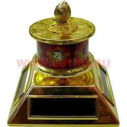 Буддистский молитвенный барабан с 4 солнечными батареями - фото 48503