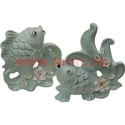 Статуэтка Рыбы 22 см,фарфор цена за пару - фото 52677