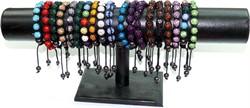 """Браслеты """"шамбала"""" разноцветные 7 шариков (12 шт/уп) - фото 54415"""