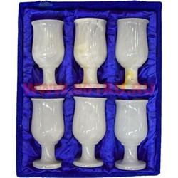 Набор 6 бокалов из оникса 12 см в бархатной коробочке (2,5х5) - фото 56365