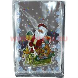 Пакет подарочный новогодний 20х30 см, цена за 100 шт - фото 59463