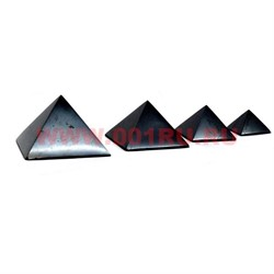 Пирамида из шунгита для очищения воды полированная 3 см - фото 65895
