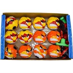 Игрушка юла «Angry Birds» крутящаяся с музыкой, цена за 12 шт - фото 82272