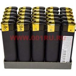 Зажигалка газовая черная под резину 50 шт/бл - фото 83225