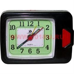 Часы будильник кварцевые прямоугольные - фото 92799