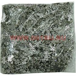 Крестик под серебро 1000 шт раз. 1,8х1 см цена за упаковку - фото 99820