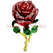 Шкатулка со стразами «Роза» (23Y) малая