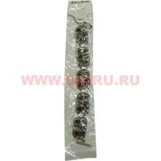 Браслет с камнями серебристый (M-100) прямоугольный цена за упаковку из 12шт