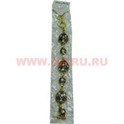 Браслет с камнями золотистый (M-100) капелькой цена за упаковку из 12шт