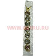 Браслет с камнями золотистый (M-100) круг цена за упаковку из 12шт
