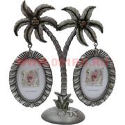 "Фоторамка ""Генеалогическое дерево"" на 2 фото с пальмами"