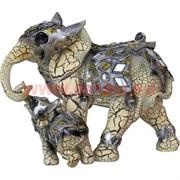Слониха со слоненком из полистоуна (27 см высота)