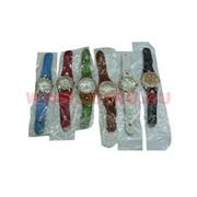 Часы под кожу со стразами (M-119) 6 видов цена за упаковку из 12шт
