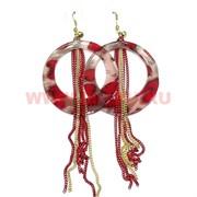 Серьги (H-3) кольца красные цена за упаковку из 12 пар