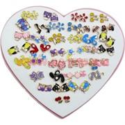 Сережки детские (M-110) цена за упаковку из 36 пар