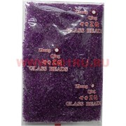 Бисер №12 (1,9 мм) темно-сиреневый №813 прозрачный 450 грамм