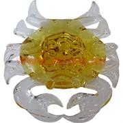 Кристалл «Краб большой» желтый, цена за шт