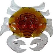 Кристалл «Краб большой» коричневый, цена за шт