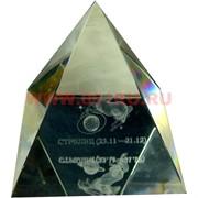 Кристалл «Пирамида Зодиак» большая 8 см