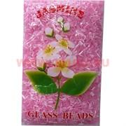 Стеклярус для бисероплетения №145 розовый