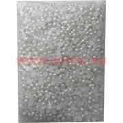 """Жемчужины """"половинки"""" для рукоделия (JS-C38) 8мм 500 гр белые"""