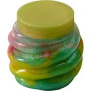 Лизун перламутровый разноцветный большой, цена за 12 шт (144 шт/кор)