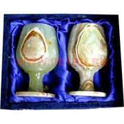 Набор из оникса 2 бокала 12см (3х5) в бархатной упаковке