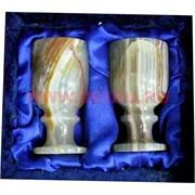 Набор из оникса 2 бокала 7см (LK) в бархатной упаковке
