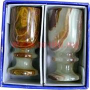 Набор из оникса 2 бокала (LK) 7см (1,5х3) в картонной упаковке
